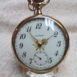 1904 Waltham Open Face Mechanical Pocket Watch