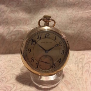 1917 Burlington Open Face Mechanical Lever Set Pocket Watch