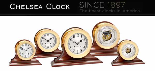 Chelsea Clocks Available at Swiss Time, Portland, Maine