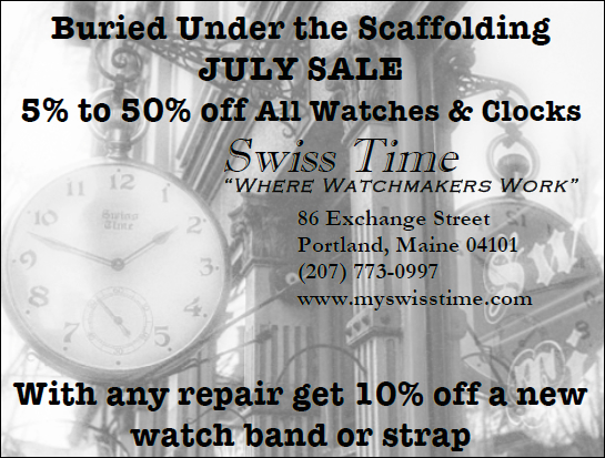Swiss Time, Portland, Maine July 2018 Watch and Clock Sale