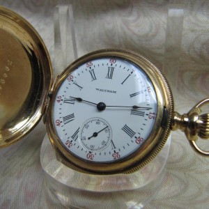 1907 Waltham Pendent Hunter Case Mechanical